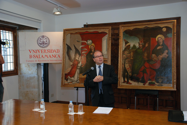 El Centro de Conservación de Bienes Culturales de Castilla y León restaura las tablas de Juan de Borgoña, 'La Anunciación' y 'La Adoración de los Magos'