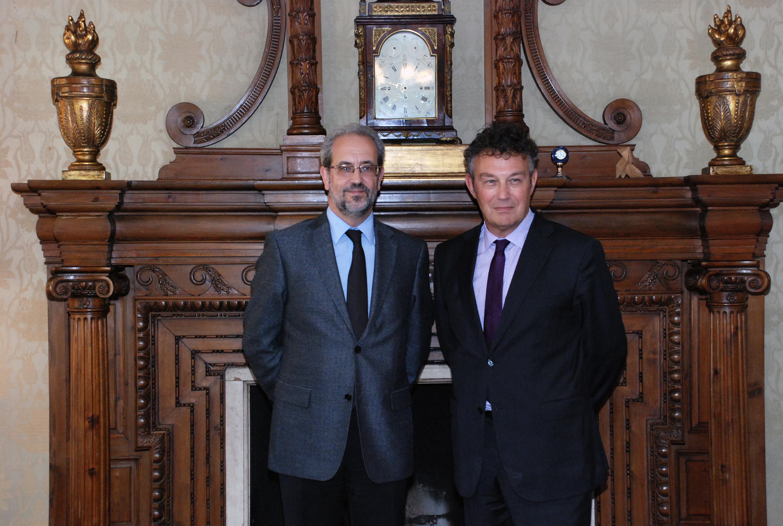 Encuentro entre el rector de la Universidad y el embajador de Polonia en España