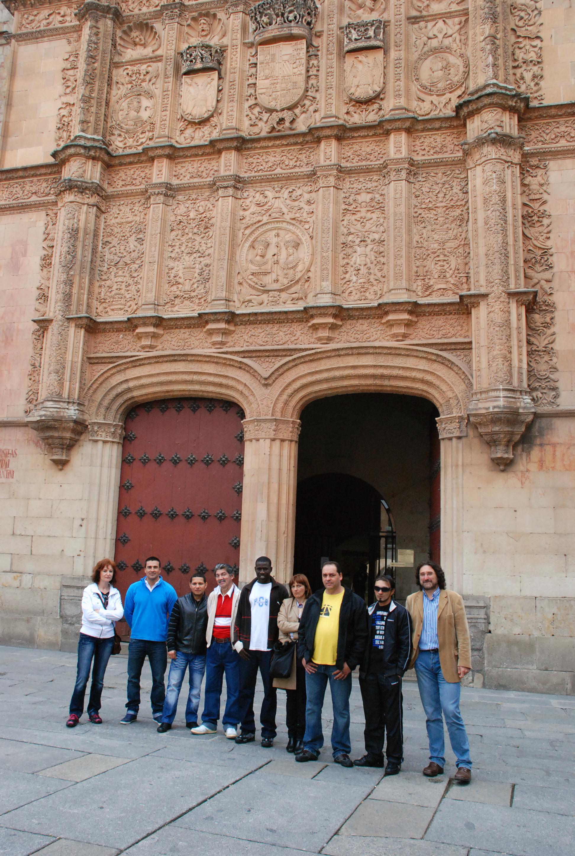Visita de un grupo de reclusos de Topas a la Universidad