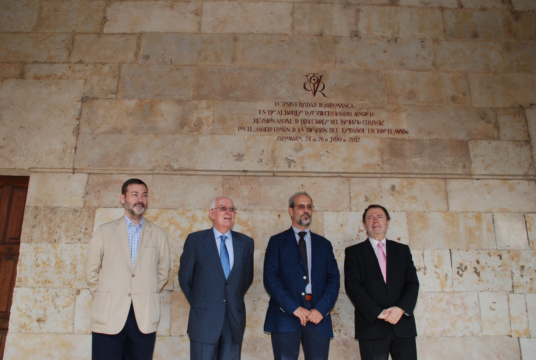La Universidad de Salamanca recuerda con un vítor la reunión de los directores del Instituto Cervantes
