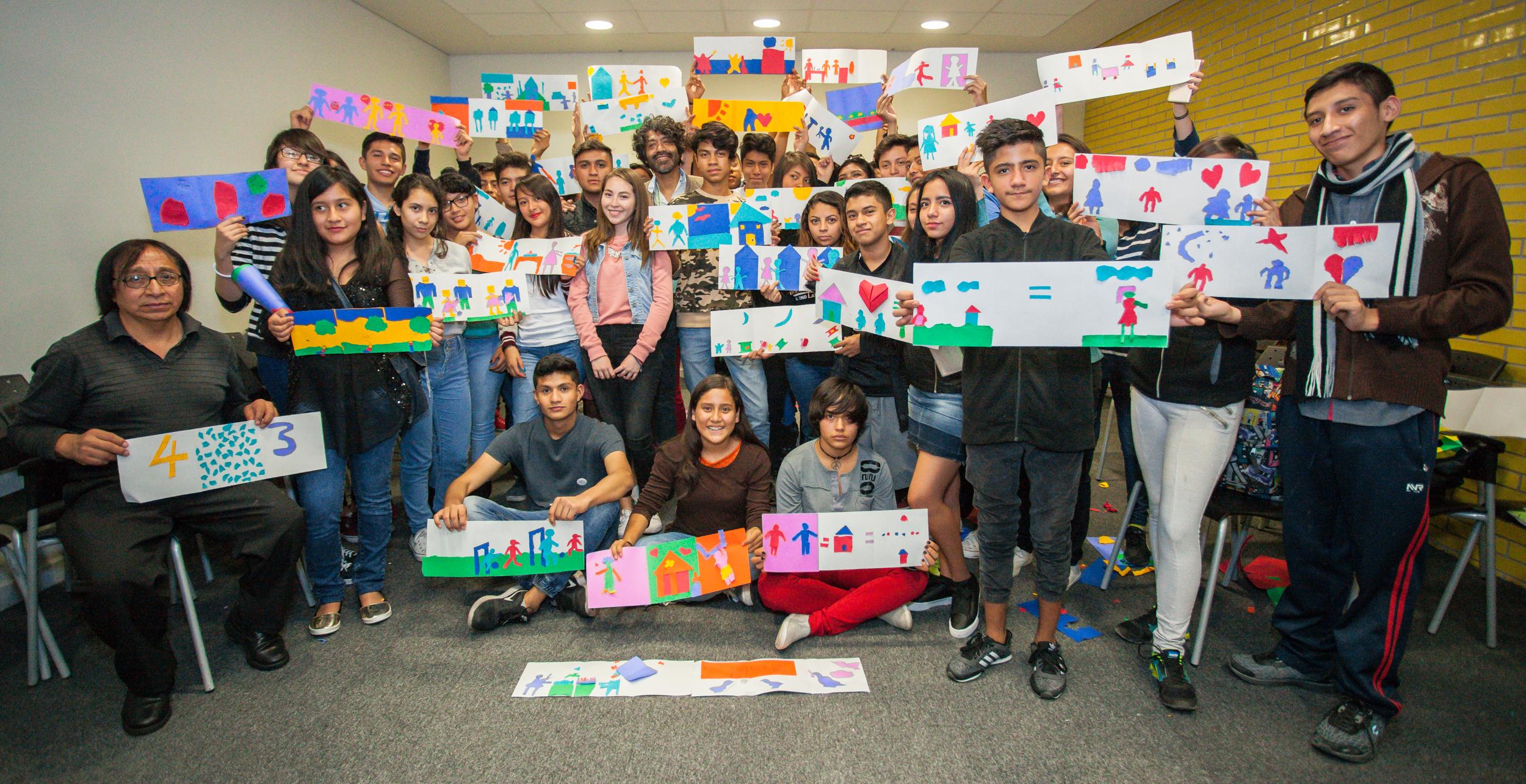 El taller de ilustración despertó gran interés entre los estudiantes.