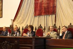 María Teresa Fernández de la Vega en el Colegio Mayor Fray Luis de León