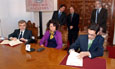 Firma del convenio entre el CLPU y la Fundación Parque Científico