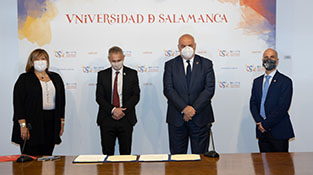 Firma de acuerdo de colaboración USAL y ENUSA