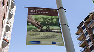 Cartel sobre el pacto verde europeo