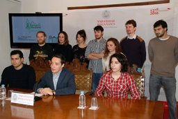 Firma de convenio entre la Universidad de Salamanca, la empresa Indra y la Fundación Adecco de Tecnología Accesible