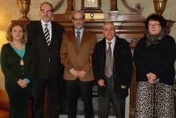 Visita de los presidentes de la ACYLE y de la Fundación Gutenberg de Argentina