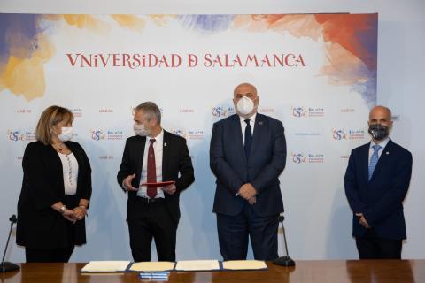 Cháro Arevalo, Ricardo Rivero, José Vicente Berlanga y Javier González Benito