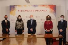 José Luis Pérez Iglesias, nuevo director de la Escuela Politécnica Superior de Zamora y su equipo