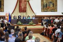Acto de inauguración de los cursos de verano de la Universidad de Salamanca.