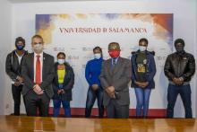 Las autoridades participantes del acto
