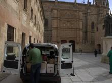 Entrega de libros del SAS al Hospital de Salamanca.